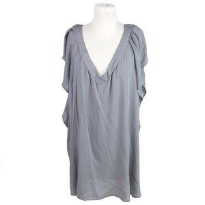Torrid Gray V Neck Flutter Sleeve Plus Size 3X Top